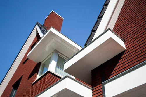 Fragment achtergevel woning te Oosterhout